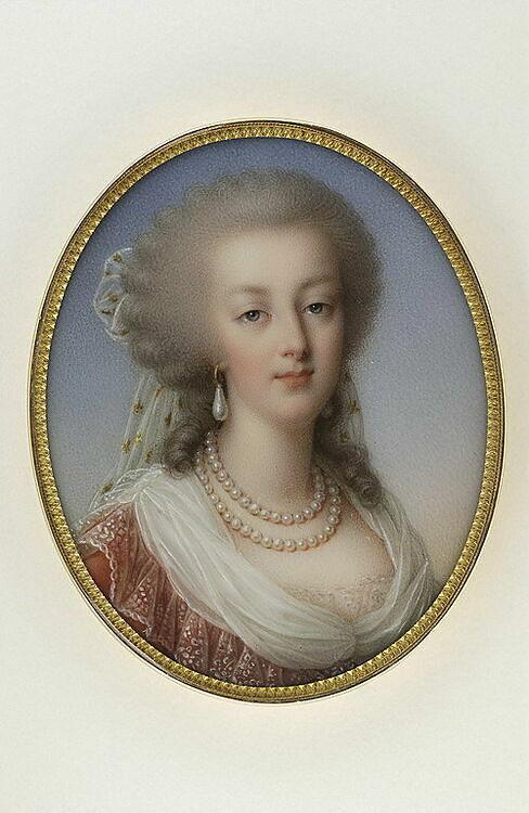 Portrait de Marie-Antoinette, reine de France - Louvre Collections