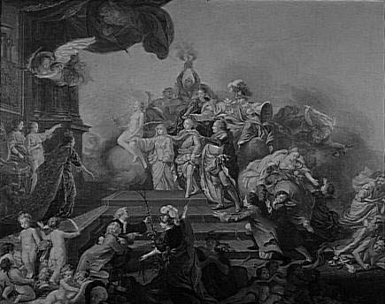 Allégorie relative au jeune prince Frédéric-Christian de Saxe, fils d'Auguste III, roi de Pologne et électeur de Saxe, dit aussi Allégorie du couronnement de Georges III d'Angleterre en 1760