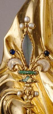 Fleur de lys de la Vierge de Jeanne d'Evreux
