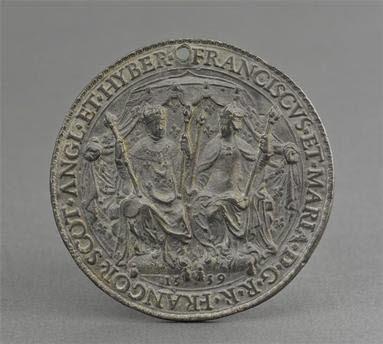 Empreinte de sceau : François II et Marie Stuart
