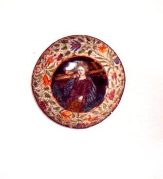 Tasse : l'Enfant Jésus portant les instruments de la Passion.