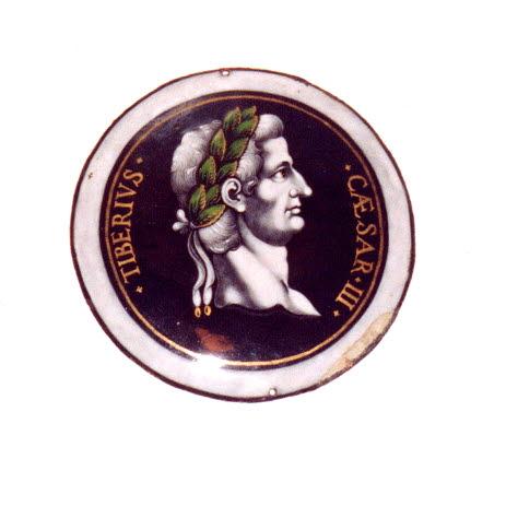 Médaillon : Tibère, d'une série de douze plaques (MRR 260 à 271)
