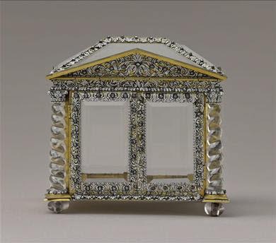 Cabinet en cristal de roche et verre