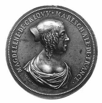 Médaillon : Madeleine de Créquy, maréchale de France