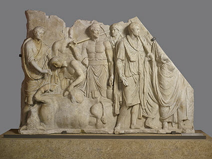 relief architectural  ; relief de l'extaspicine