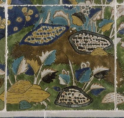 Carreau issu d'un panneau de revêtement à la joute poétique
