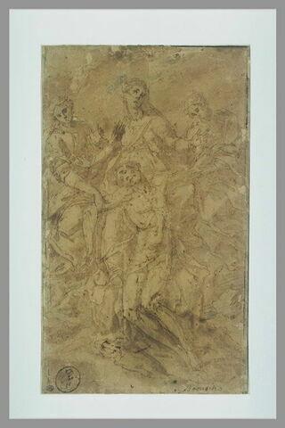 La Vierge accompagnée de deux saintes Femmes soutenant le corps du Christ