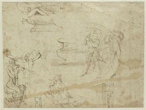 Etudes de Pan, de satyre, de vasque de fontaine