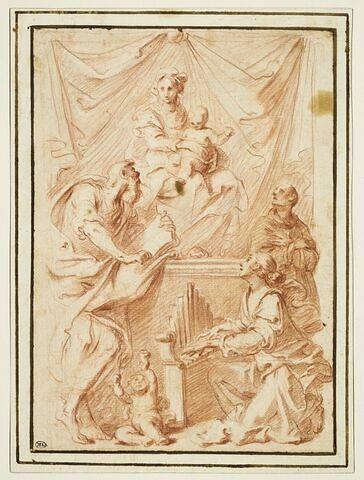 Sainte conversation avec sainte Cécile et deux saints