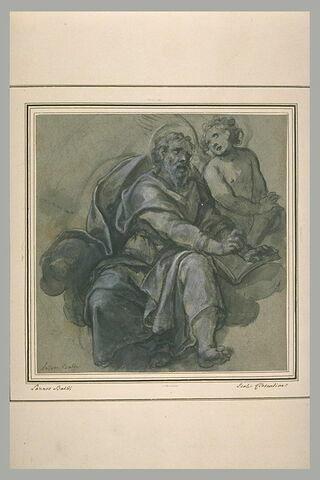 Saint Matthieu Evangéliste sur les nuages