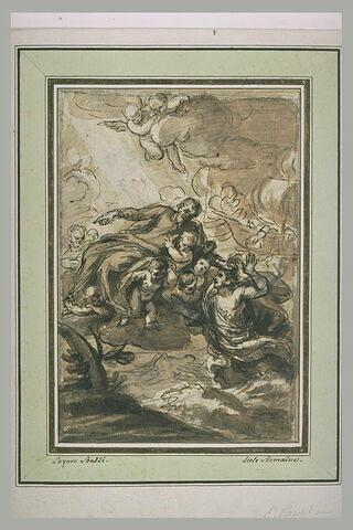Un saint jésuite sauvant un jeune homme sur le point de se noyer