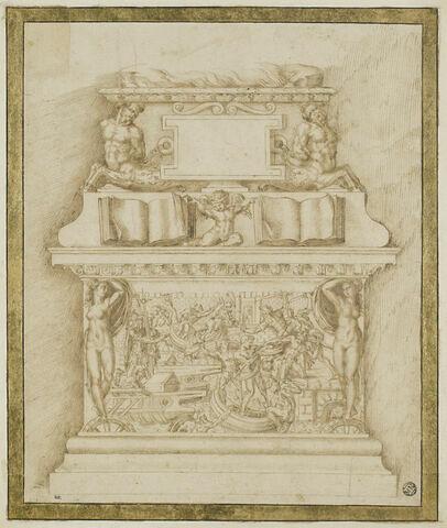 Étude pour le soubassement du monument d'Andrea Doria (?)