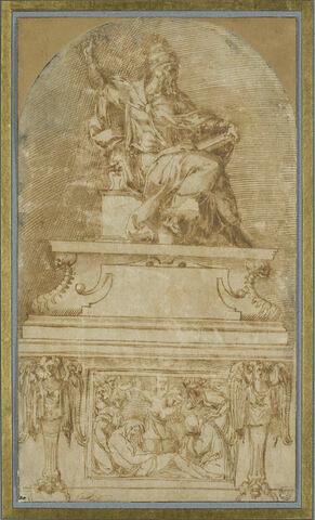 Étude pour le tombeau d'un pape (Clément VII ?)
