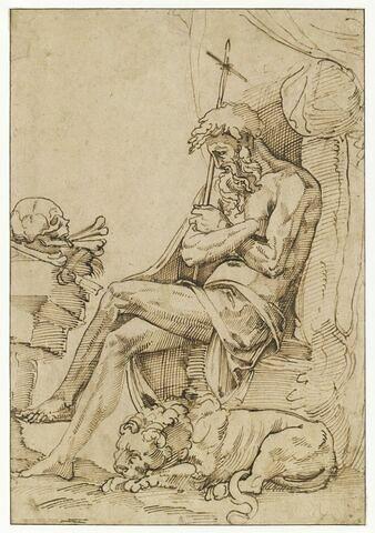 Saint Jérôme en méditation