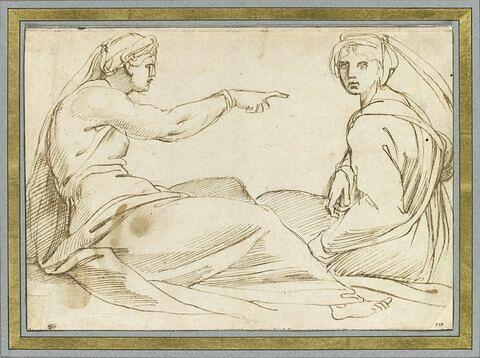 Deux femmes assises