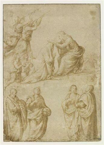 Le couronnement de la Vierge et quatre saints