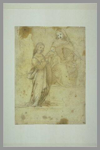 Vierge à l'Enfant et une sainte (sainte Catherine?)