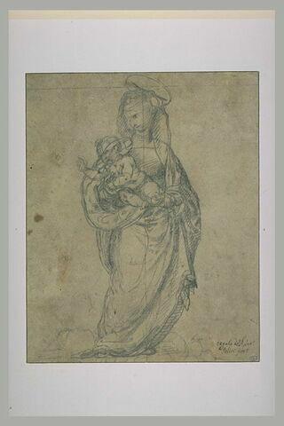 Vierge debout portant l'Enfant