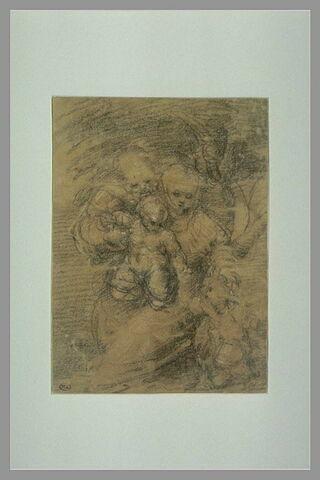 La Sainte Famille et le petit saint Jean agenouillé