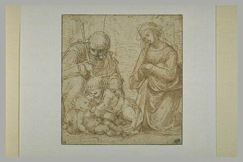 Sainte Famille avec le petit saint Jean jouant avec l'Enfant