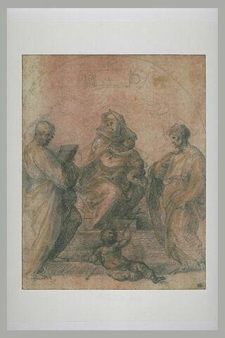 Sainte Conversation avec deux saints et le petit saint Jean assis par terre