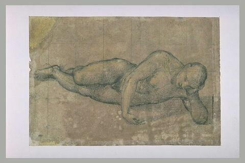 Adam endormi : étude pour la Création d'Eve
