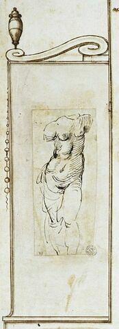 Torse de femme sans tête ni bras, vu de face : Vénus ?