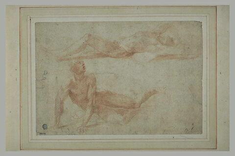 Deux hommes nus étendus