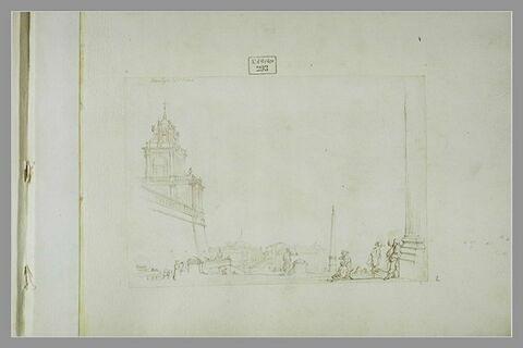 Vue de la Place Saint-Pierre, à Rome