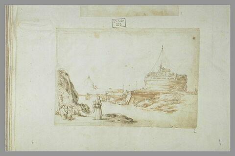 Le pont et le château Saint-Ange, à Rome