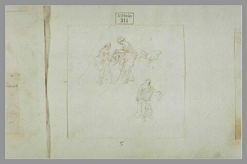 Judith et sa servante ; Judith tenant la tête d'Holopherne