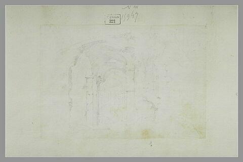 Intérieur de ruines : le Colisée (?)