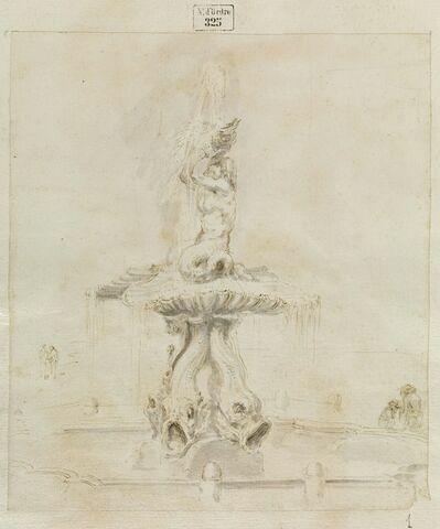 Vue de la Fontaine du Triton du Bernin, à Rome