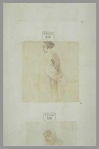 Un turc debout, les mains derrière le dos, de profil vers la gauche