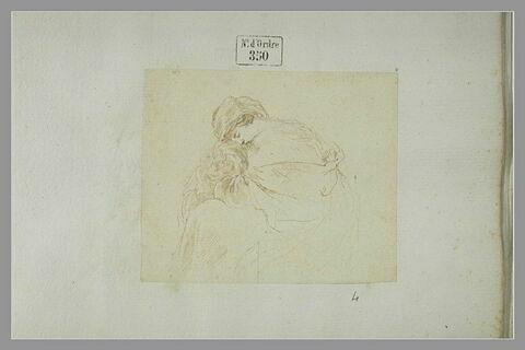Vierge assise allaitant l'enfant