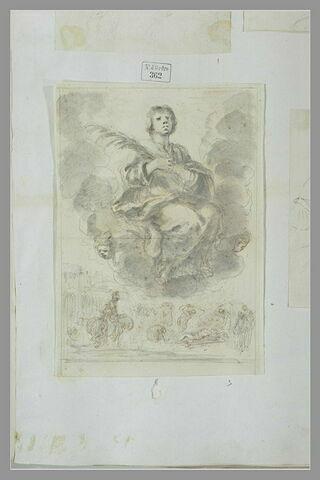 Martyre  et apothéose d'un saint : saint Laurent (?)