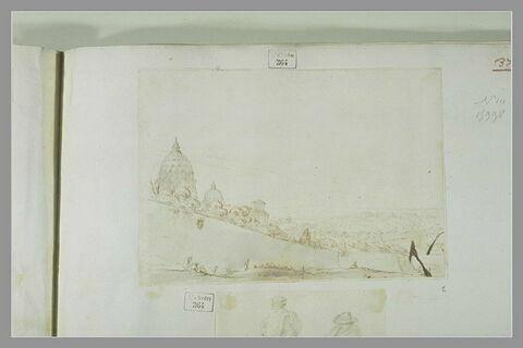 Vue de la basilique Saint-Pierre à Rome et de ses environs