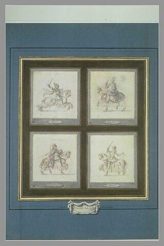 Clovis à cheval, lancé au galop vers la droite