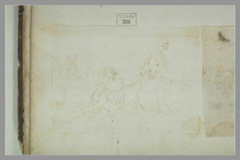 Triton conduisant un cheval marin monté par une néréide