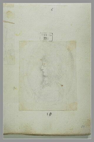 Portrait de Cosme III, de profil vers la gauche, dans un médaillon
