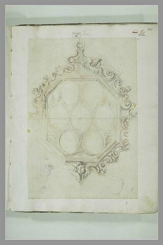 Etude de médaillon ou de reliquaire octogonal