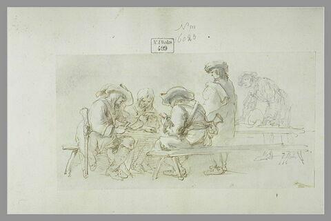 Soldats jouant aux cartes
