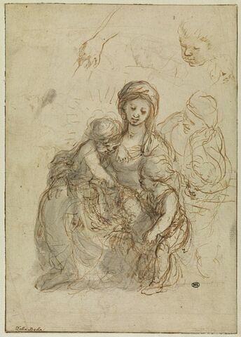 Vierge à l'Enfant avec Sainte Anne et saint Jean-Baptiste
