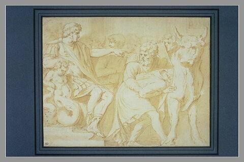 Phalaris ordonne de jeter Pérille dans le taureau d'airain