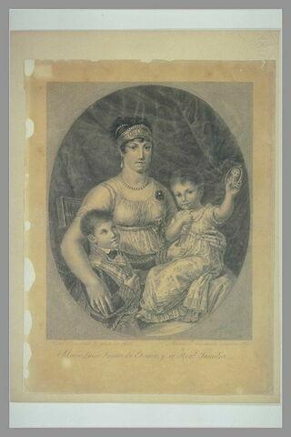 Portrait de la Reine d'Etrurie Marie Louise, infante d'Espagne, et ses enfants
