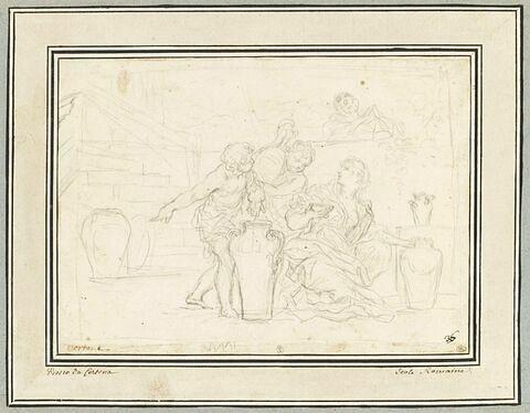 La veuve de Sarepta, ou Elisée sauvant une veuve et ses enfants de l'esclavage