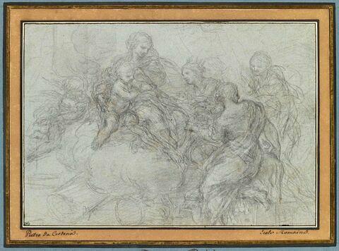 Vierge à l'Enfant entourée de sainte Catherine et deux autres figures