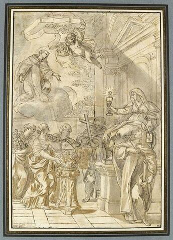 Scène mystique : la Foi, la Charité, la Théologie, sainte Thérèse
