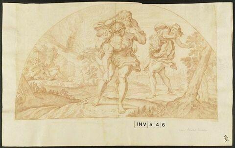 Amphinomus et Anapias sauvant leurs parents lors de l'éruption de l'Etna