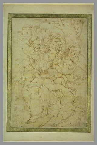 Sainte Famille avec sainte Anne et saint Jean